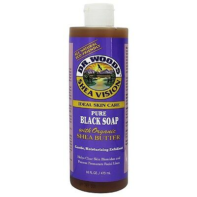 Dr. Woods Shea Skin Care Pure Black Soap with Organic Shea Butter 16 oz