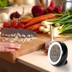 Digital Kitchen Timer Countdown Magnetic Alarm Thermometer w/ Stand Master Cook