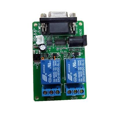 5v 2 Channel Rs232 Db9 Serial Control Relay Switch Board Scm Pc Relays
