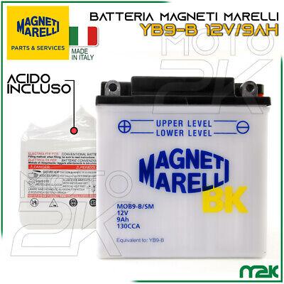 BATTERIA ORIGINALE MAGNETI MARELLI YB9-B 12V 9AH MOTO RINO SCOOTER VESPA APE