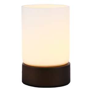 Small Bronze Metal And Glass 4 Stage Touch Dimmable Table Lamp
