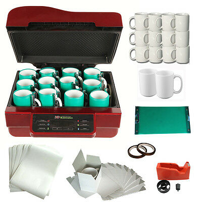 3d Heat Press Machine Mugs Sublimation Ink Transfer Printing Kit