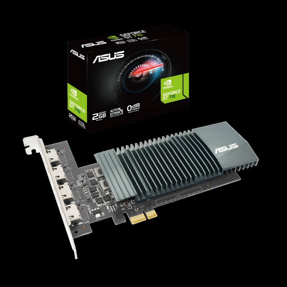 ASUS GT710-4H-SL-2GD5 Grafikkarte (NVIDIA, PCI 2.0, GDDR5 2GB)