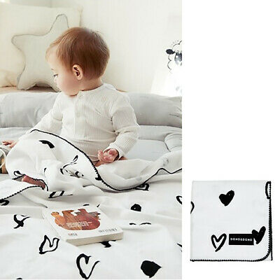 Dono and Dono Multi-Purpose Cotton Cuddle Blanket 41 x 41 Inch - Lovely Heart