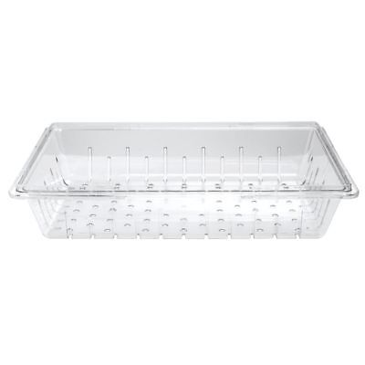 Cambro Clear Plastic Cold Food Storage Box Colander - 26