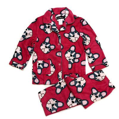(NEW Kids Pajamas girls Fleece Sleepwear Long Sleeve PJ Set Flannel Warm )