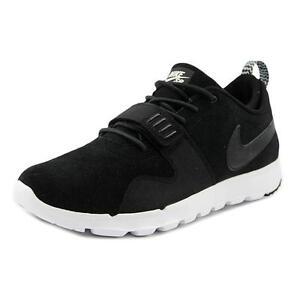 on sale c8f93 d997d Nike SB Trainerendor L Black White Suede Leather Mens UK 9 EUR 44 ...