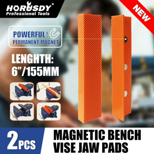 "4.5""/6"" Vise Soft Jaws/Vice Jaw Magnetic Reversible Pads Universal (2 Sets in 1)"