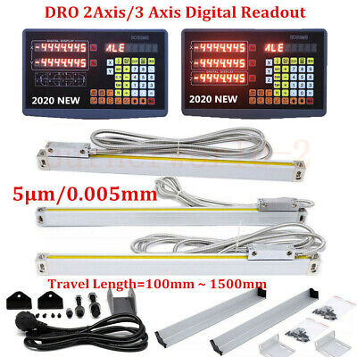 23axis Cnc Milling Digital Readout Display Linear Scale Lathe Milling Ruler 5um