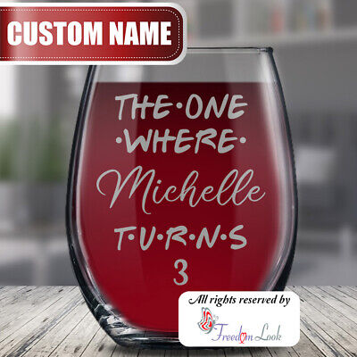 Personalized Third 3rd Birthday Glass, 3 Years Baby Bday Gif