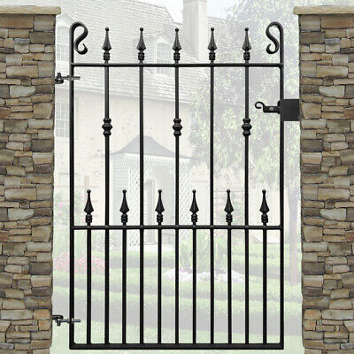 Safety Head Garden Gate | 3ft 3 Opening | 4ft High | Wrought Iron Metal Steel