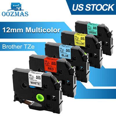 5pk Tz-231 Tze-231 Pt-d210 Compatible Brother P-touch Label Maker Tape 12mm 12