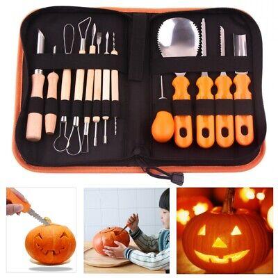 14Pcs DIY Halloween Pumpkin Carving Kit Jack-O-Lanterns Maker with Storage Bag