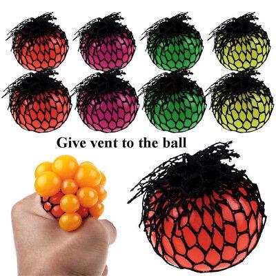 Sensory Squishy Mesh Ball Grape Anti Stress ADHD Relief Squeeze Abreaction BJ
