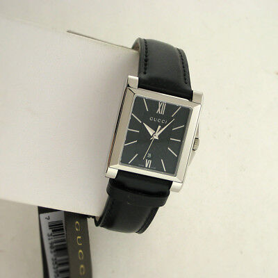 9f5972d467d Gucci Swiss YA138503 G Timeless Stainless Steel Black Leather Band Date  Watch
