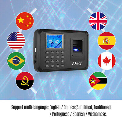 Biometric Fingerprint Password Checking-in Attendance Machine Time Clock N1a8