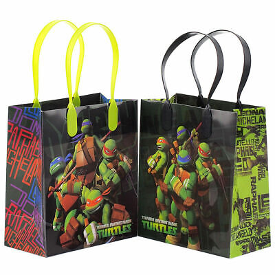 12 Pcs Ninja Turtles Movie Birthday Party Supplies Favor Goody Gift candy Bags - Ninja Turtles Party Bags