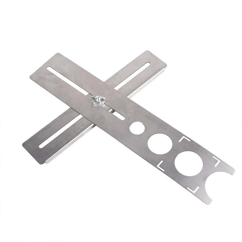 Adjustable Position Ruler Locator Tool For Woodworking Hand Practical Durable