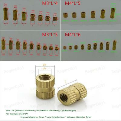 M3 / M4 Brass Knurled Nuts Insert Embedded Nuts