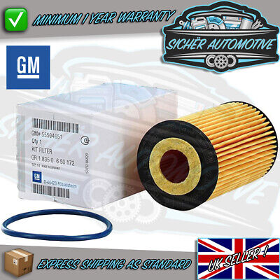 Genuine GM Vauxhall Astra J Mk6 2009 > Oil Filter Petrol Models 55594651