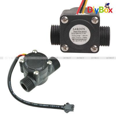 G12 Water Flow Sensor Fluid Flowmeter Switch Counter 1-30lmin Meter