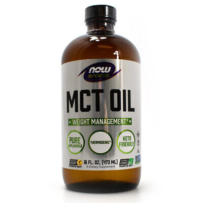 Now MCT Oil Liquid Pure Unflavored 16 fl.oz