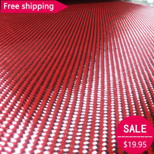 Carbon fiber & Red kevlar 70cm wide mixed fabric Carbon Aramid cloth 200gsm