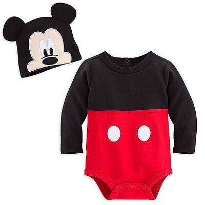 Disney Store Mickey Mouse Baby Costume Outfit & Hat Boys 3 6 9 12 18 24 Months (Baby Costumes 6 9 Months)
