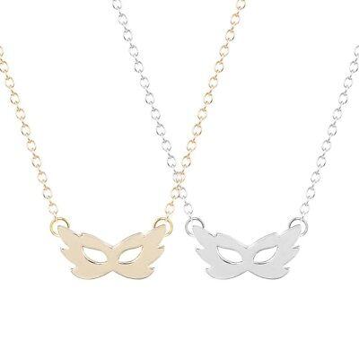 UK MASQUERADE BALL MASK PENDANT NECKLACE Jewellery Gift Idea Minimalist Kitsch