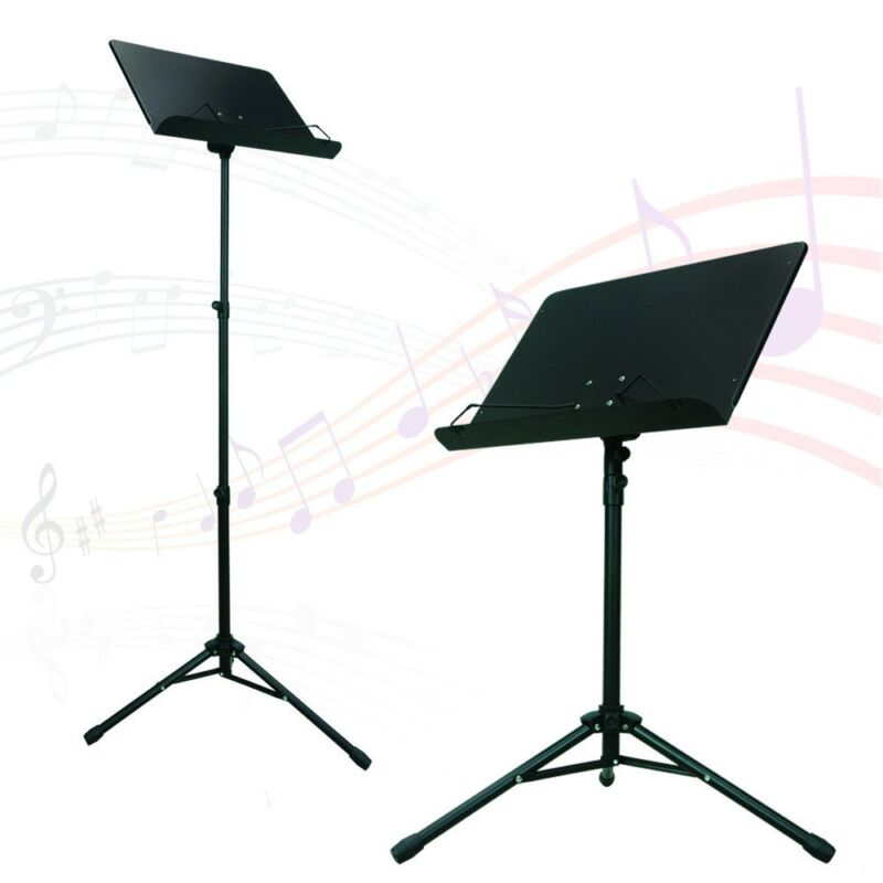 Orchestra Music Stand With Heavy Duty Metal Folding Design Black, Apl1282 New