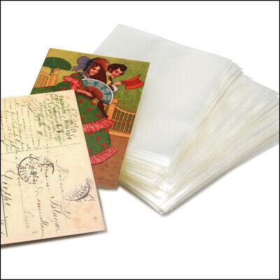 1000 Ansichtskartenhüllen Postkartenhüllen Hüllen alte AK 96x148 mm 100 MY Klar