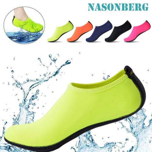 Barfussschuhe Tauchen Aqua Haut Socken Wasserschuhe Yoga Schwimmschuhe DE