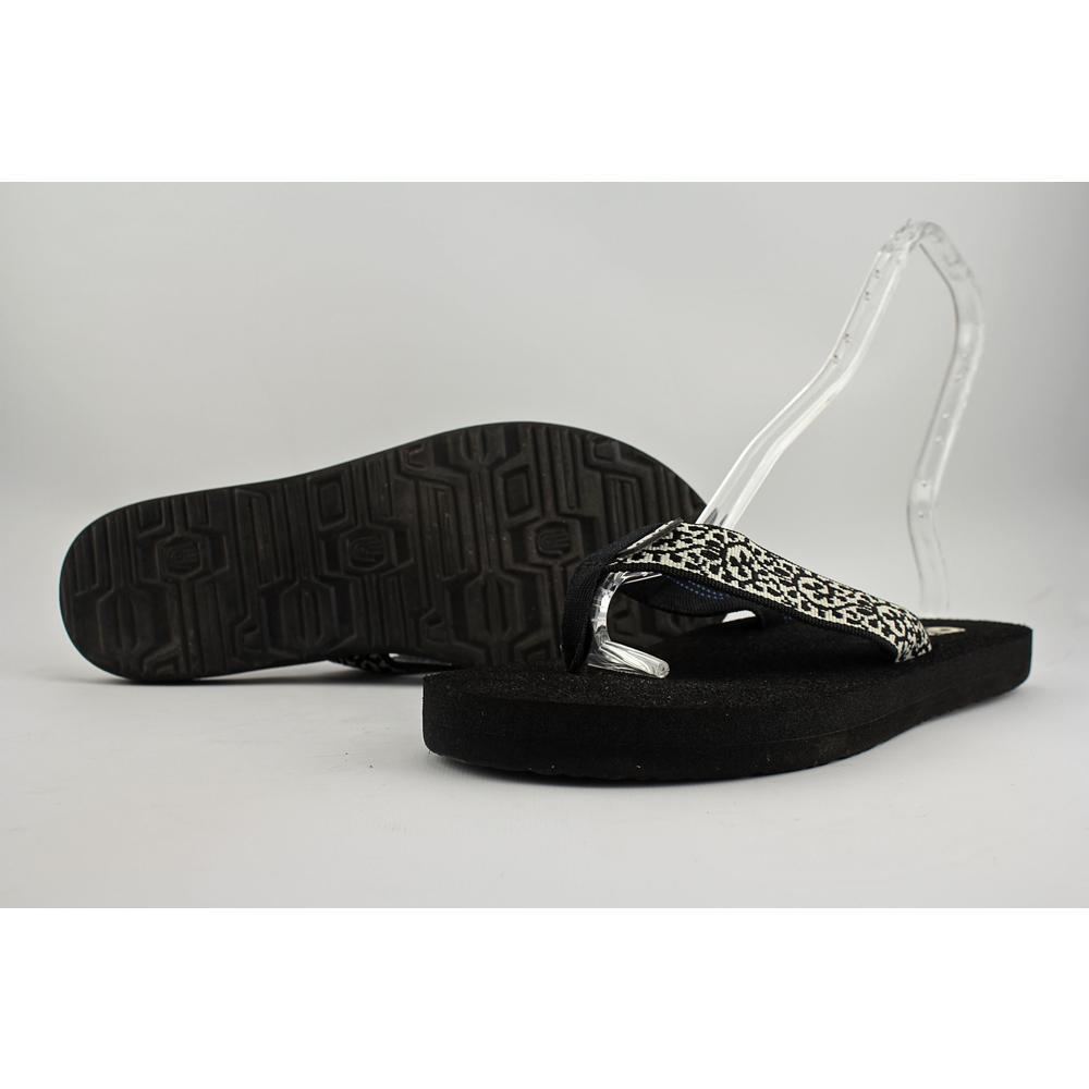 0645d4bb1efd Teva Mush II Flip Flop Sandals Womens 8 Black Print 4198b Ship for sale  online