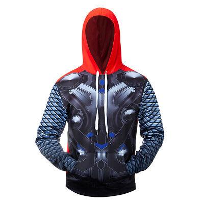 Thor Costume Hoodie (Thor Avengers Cosplay Costume 3D Printed Premium Sweatshirt Pullover)
