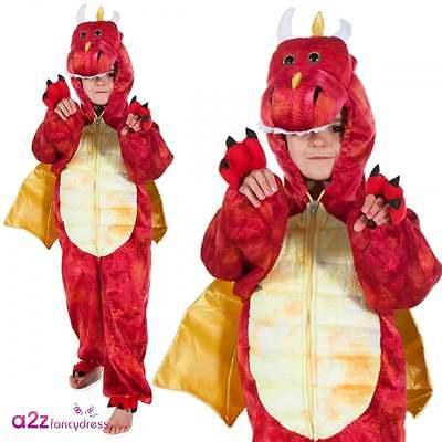 Roter Dinosaurier Drachen Kostüm Karneval Prähistorische - Prähistorische Kostüm