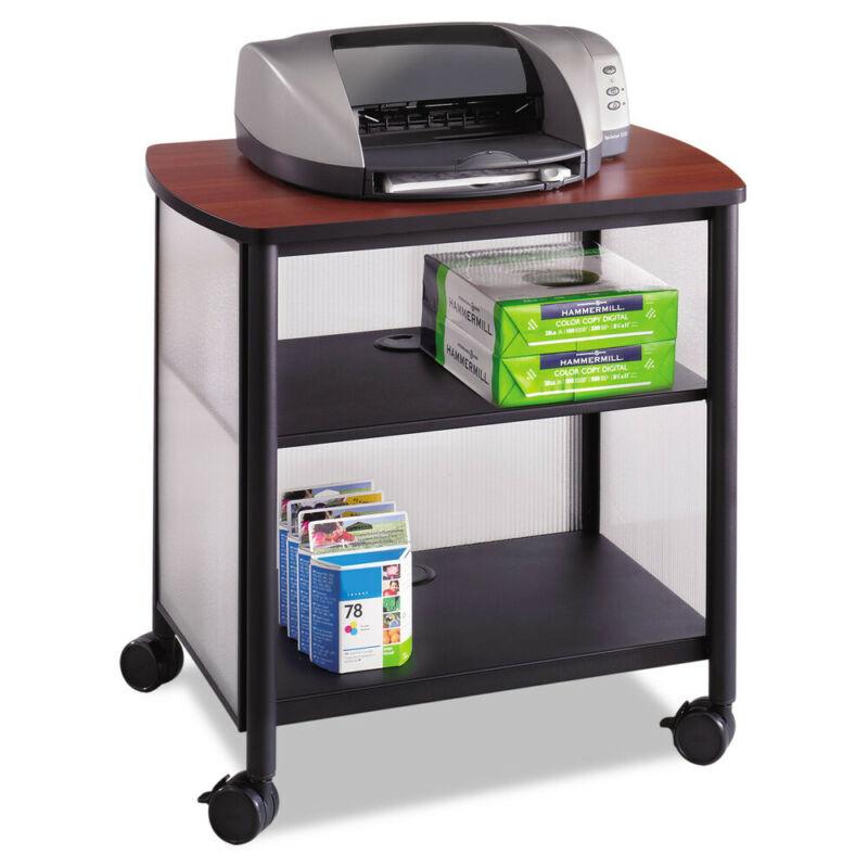 Safco Impromptu Machine Stand 1-Shelf 26-1/4wx21dx26.5h Black/cherry 1857BL NEW