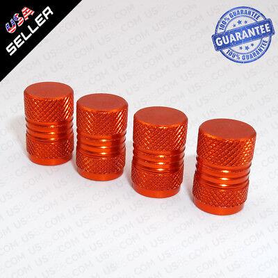 Universal Aluminum Auto Car Wheels Tire Valves Dust Stems Air Caps - Orange
