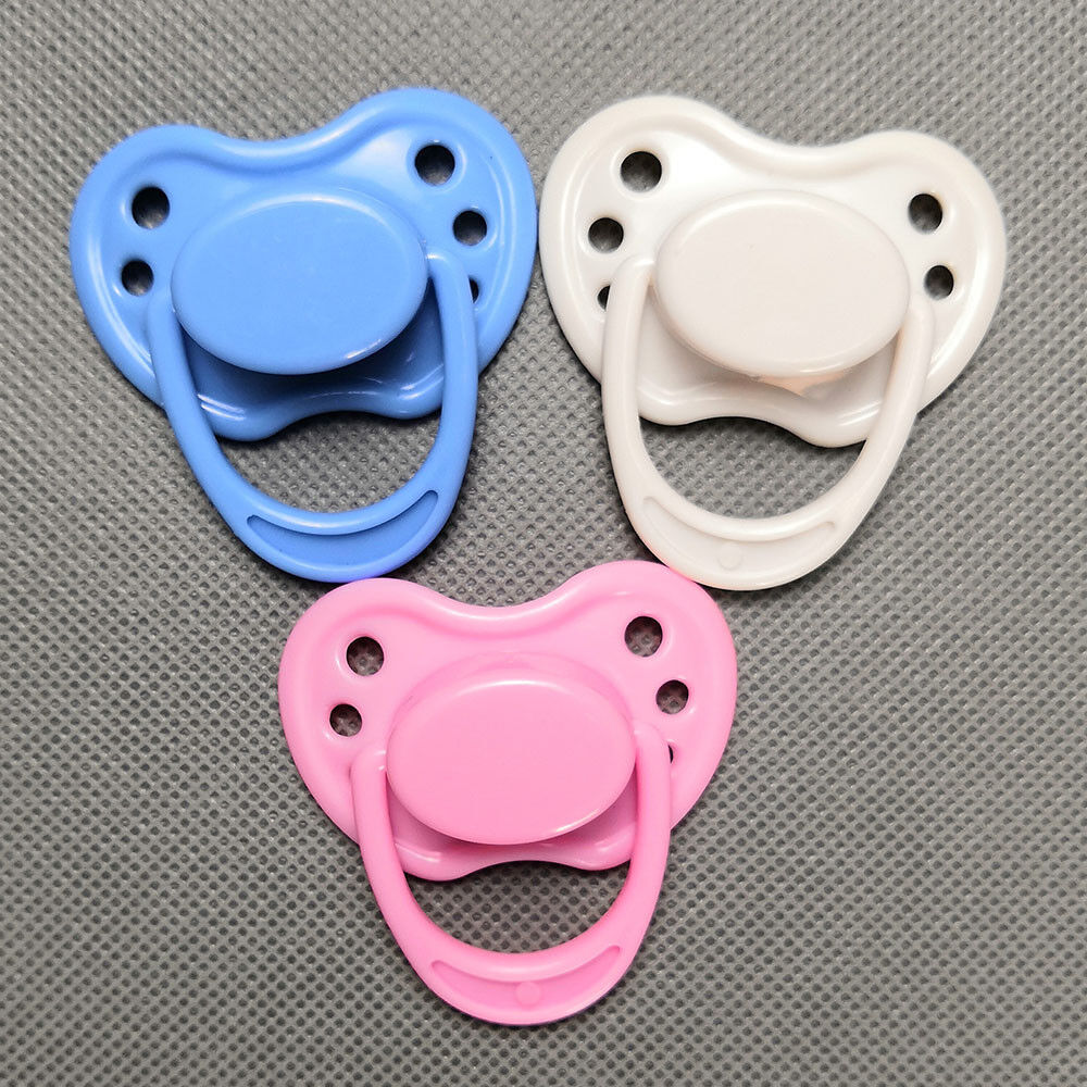 10pcs White Magnetic Pacifier Dummy Reborn Newborn Dolls Internal Magnet