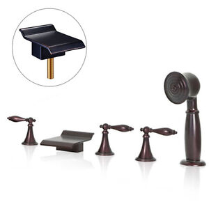 lavelle waterfall roman tub faucet. Oil Rubbed Bronze Waterfall Roman Tub Faucet Bathtub Tap With Hand Shower  Spray eBay