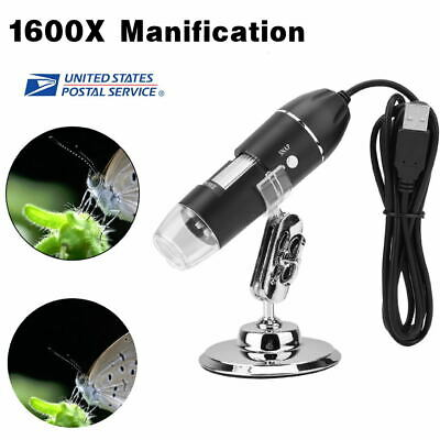 0.3mp Usb 1000x 8 Led Digital Microscope Endoscope Magnifier Stand Holder