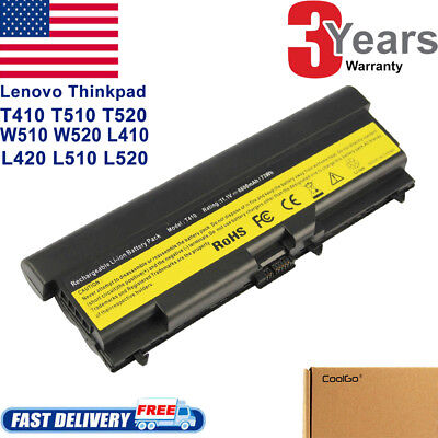 6/9Cell Battery for Lenovo Thinkpad T410 T420 T510 T520 SL410 SL510 W510 W520 - Lenovo 6 Cell Battery