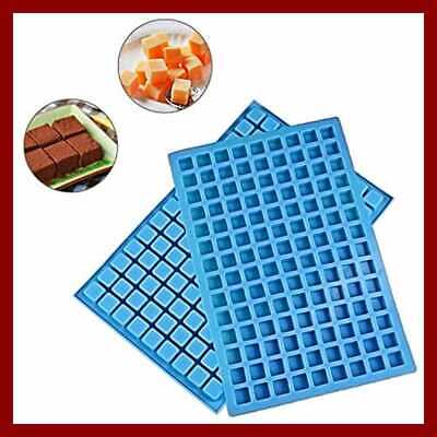 Mini Square Silicone Mold/Silicone Candy Molds For CHOCOLATE Gummy Ice Cube BLUE for sale  Kansas City