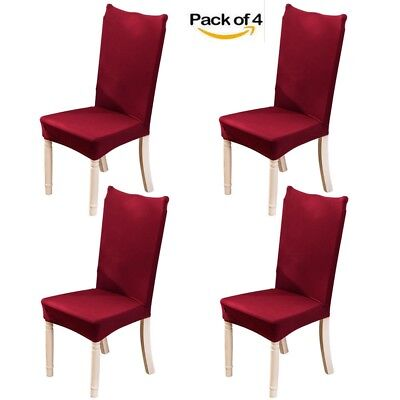4pcs Spandex Stretch Chair Cover Seat Covers for Banquet Dec