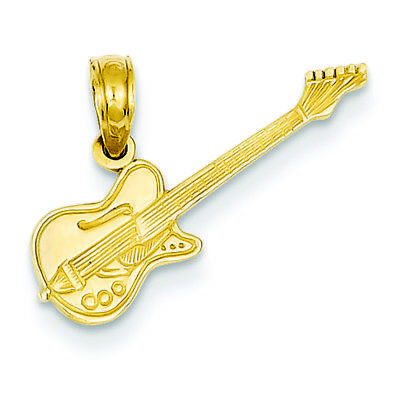 14K Yellow Gold Electric Guitar Charm Pendant MSRP (14k Electric Guitar Charm)