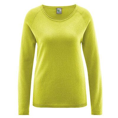 HempAge Damen Strickpullover weich und dünn Hanf/Bio-Baumwolle