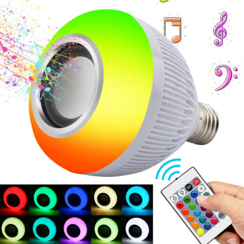 12W RGB+White Smart LED Light Bulb E27 Color Bluetooth Music