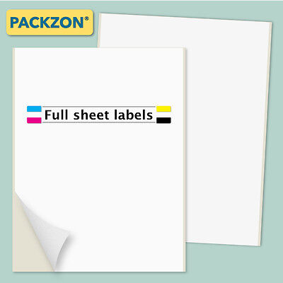 500 Shipping Labels Full Sheet 8.5x11 Self Adhesive Packzon