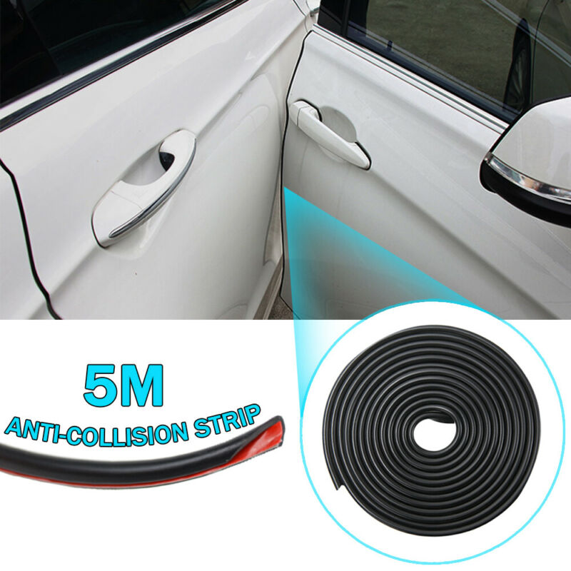 16FT//5M Car Door Edge Scratch Anti-collision Protector Moulding Strip Guard Trim