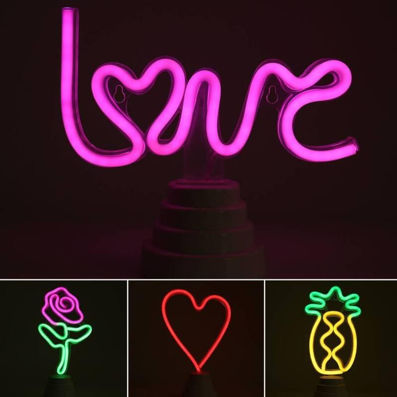 US LED Neon Flamingo Decorative Night Light Neon Sign Dance