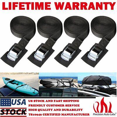 4 Pack Car Roof Rack Trailer Tie Down Straps Cargo Lashing Kayak Boat W/ Buckle Boat Trailer Tie Down Straps